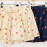 Chiffon shorts with heart and arrow [278]