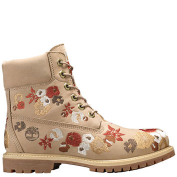 Timberland | Women's 6-Inch Premium Embroidered Waterproof Boots