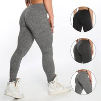 Womens Sport Pants Sexy Push Up Gym Sport Leggings