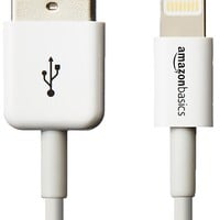 AmazonBasics Apple Certified Lightning to USB Cable - 6 Feet (1.8 Meters) - White