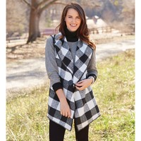 Berkley Blanket Vest by Mud Pie