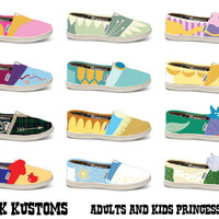 KOOAK Kustoms Disney Princess Inspired Toms by KammysOneOfAKind