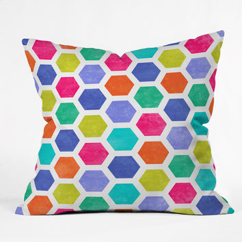 Jacqueline Maldonado Hexagon 2 Outdoor Throw Pillow