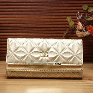 Chanel Women Fashion Leather Shopping Wallet Purse