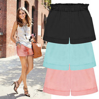 Cuffed Short Pants With Pockets