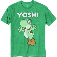 Nintendo Yoshi Arms Out Heather Kelly Green Mens T-shirt