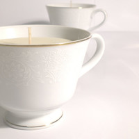Pure Essential Oil Fine China teacup candle - Customize your own blend - as seen in Etsy Finds