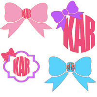FREE SHIPPING** Initial monogram decal. Quatrefoil, Bow, Phi Mu, and girly styles