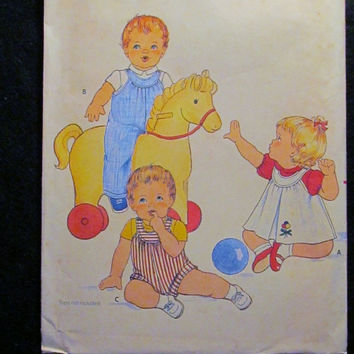 SALE Uncut 1970's Butterick Sewing Pattern, 4239! Size Large Toddlers/Kids/Child/Infants/Jumpers/Panties/Jumpsuits/Sleeveless/Overalls/Cover