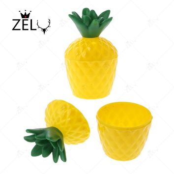 ZLJQ 1 Pcs Plastic Pineapple Shaped Drink Cups Without Straw Beach Holiday Party Decoration Supplies Hen Party Hawaii Pool Party