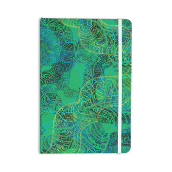 """Patternmuse """"Mandala Mint"""" Green Abstract Everything Notebook"""