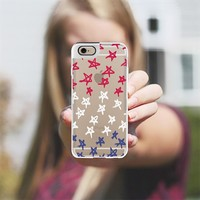 Red, White & Blue Stars Metaluxe iPhone 6 case by Lisa Argyropoulos | Casetify