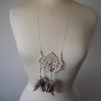 Dream Catcher Bead work necklace