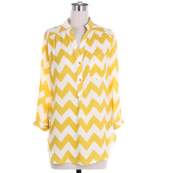 Yellow Chevron Blouse