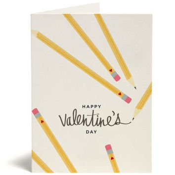 Valentine's Day Pencil Card