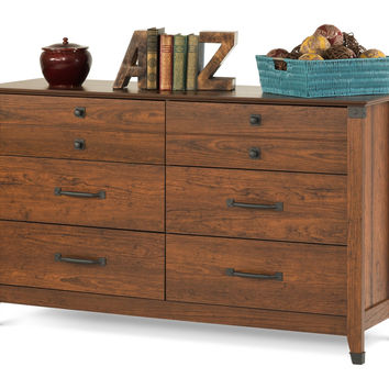 Child Craft Redmond Double Dresser Coach Cherry - F02809.06