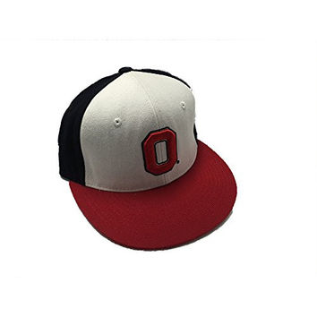 Ohio State Buckeyes Zephyrs NCAA White/Black/Red Fitted Hat (6 3/4)