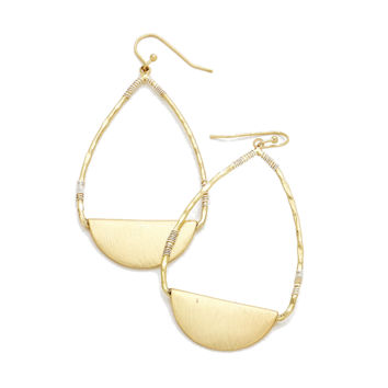 Gold Modern Drop Earrings