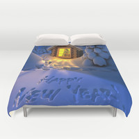 MERRY CHRISTMAS Duvet Cover by Acus