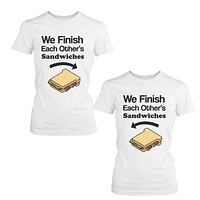 We Finish Each Others Sandwich BFF Shirt Cute Matching Best Friends T-shirt