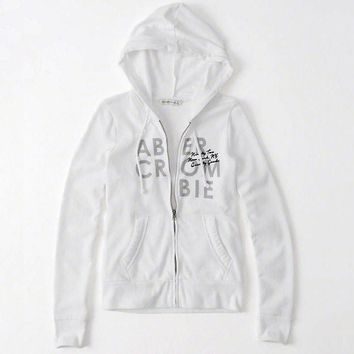 Abercrombie & Fitch Women Fashion Casual Cardigan Jacket Coat Hoodie-6