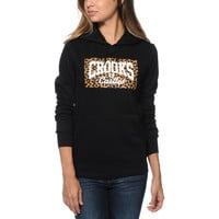 Crooks and Castles Leopard Core Logo Black Pullover Hoodie at Zumiez : PDP