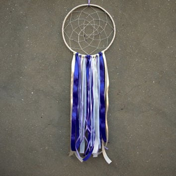 Dream catcher wall hanging Boho chic dreamcatcher Nursery wall decor Violet decor Large dream catcher Bohemian wall hanging Amethyst decor