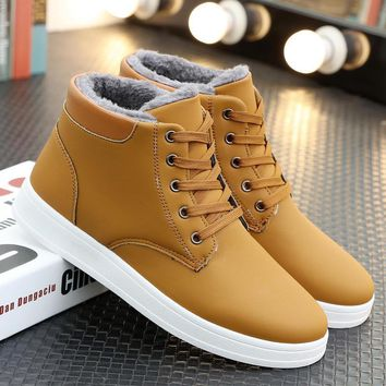 Cotton Shoes Korean Fashion Casual Men's Shoes [9462346311]