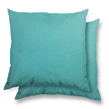 Stratford Home 17x17 Indoor/ Outdoor Toss Pillows, Sunbrella Canvas Fabric, Set of 2 (Aruba)
