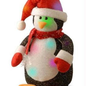 Christmas Table Top Decoration - Light-up Led Color Changing Penguin