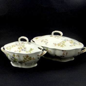 Victorian Soup and Gravy Tureens by Bawo & Dotter of Carlsbad, Austria