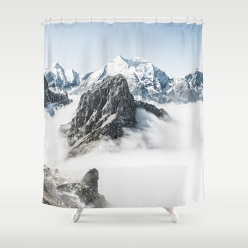 With My Head Above The Clouds Shower Curtain by Gallery One