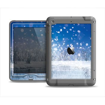 The Frozen Snowfall Pond Apple iPad Mini LifeProof Nuud Case Skin Set