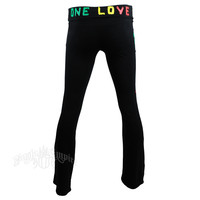 Bob Marley One Love Black Yoga Pants - Women's