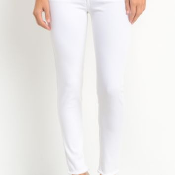 High Rise Skinny Jeans, White