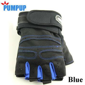 Male Famale Exercise Half-finger Gym Body Building Training Fitness Gloves Weight lifting Workout Breathable Wrist Wrap Mittens