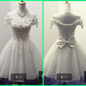 2015 stylish short a line little white cocktail dresses v neck beaded crystals informal cocktail gowns best selling