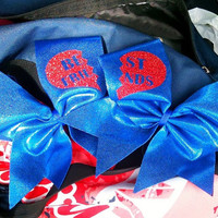 Best Friends Pair of Cheer Bows by rosysbows on Etsy