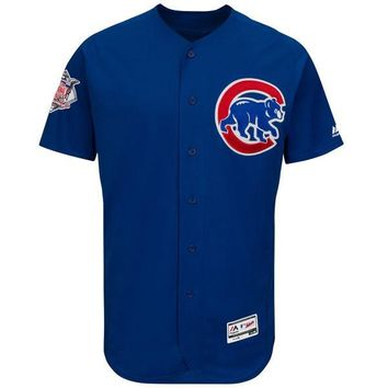 Men's Chicago Cubs Majestic Blue Alternate Flexbase Authentic Collection Team Jersey
