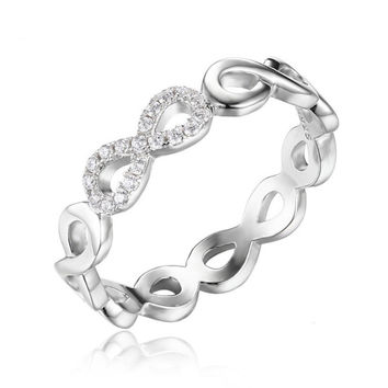 Sterling Silver Infinity Forever Promise Ring