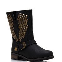 Lightning-Strikes-Twice-Studded-Boots BLACK BROWN KHAKI - GoJane.com
