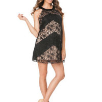 Max & Cleo Lace Back Interest Maternity Dress