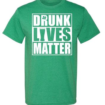 RoAcH Drunk Lives Matter Irish T-shirt | Unisex Men's Funny St Patrick's Day Party Tee
