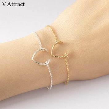 V Attract Minimalistic Jewelry 2017 Simple Deer Antler Bracelet For Women Bohemian Style Charm Bess Friends Gift