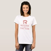 Modern Red The Best Mother of the Year T-Shirt