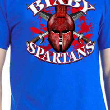 Bixby Spartans Cross Swords T-Shirt