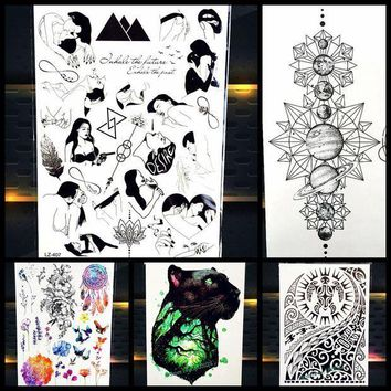 ac ICIKO2Q Large Body Art Arm Sleeves Temporary Tattoo Sticker Fast Furious Dwayne Rock Johnson Tattoo PHB523 Fake Tatoo Men Indian Totem