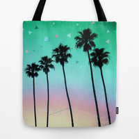 Palm Trees 4 Tote Bag by Mareike Böhmer Graphics | Society6