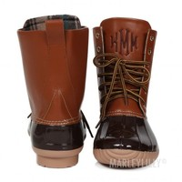 Monogrammed Duck Boots | Marleylilly