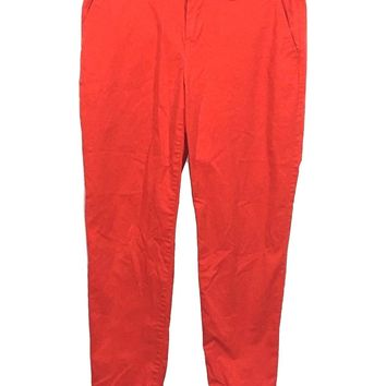 Gap Orange Broken In Straight Khakis Chinos Stretch Pants Womens 4 - Preowned